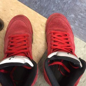 Air Jordan retro 5 red suede